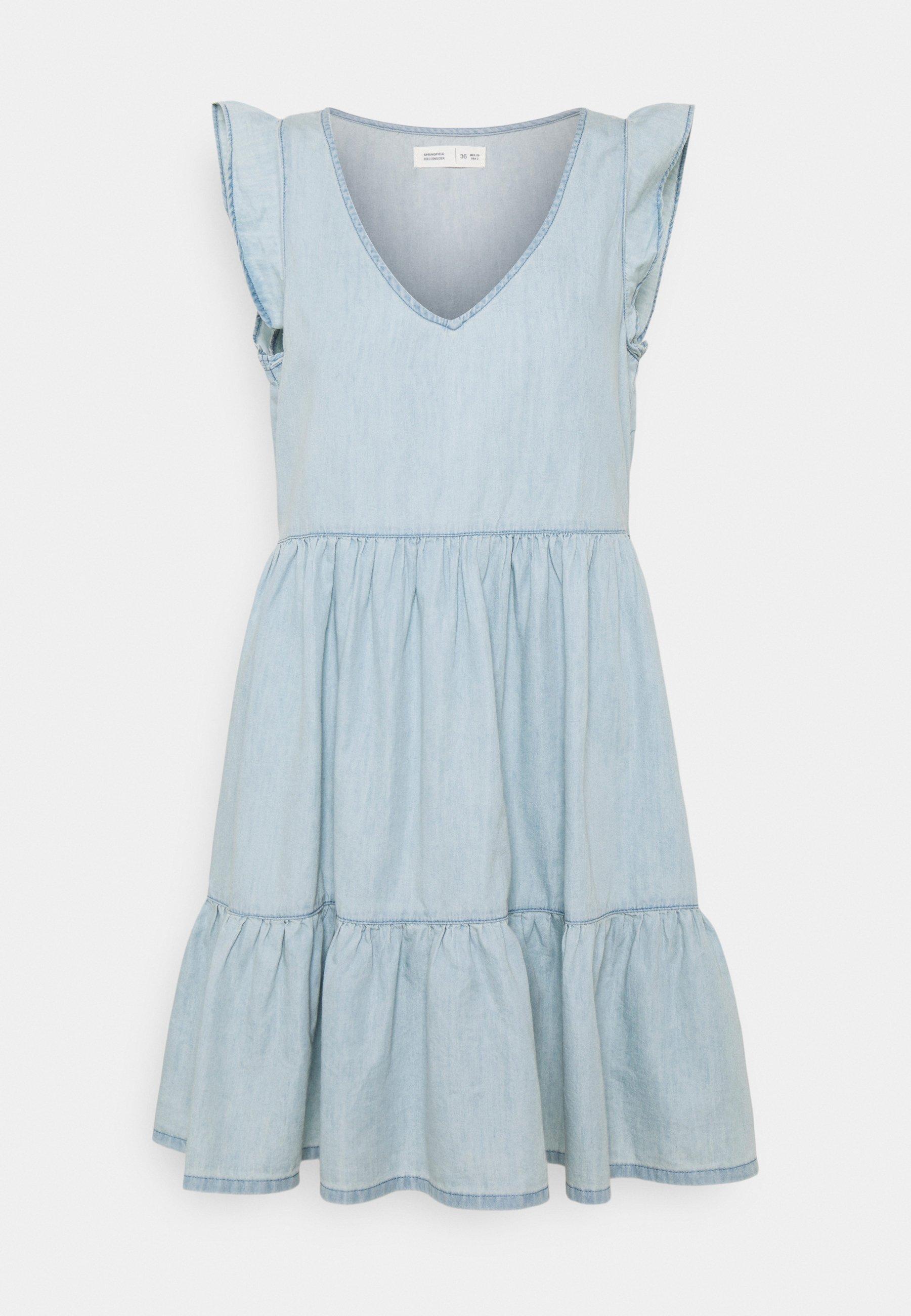 Women VESTIDO CORTO - Denim dress