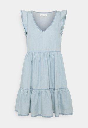 VESTIDO CORTO - Denim dress - medium blue