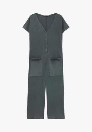 MIT VORDEREN KNÖPFEN - Jumpsuit - grey