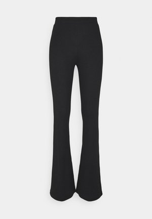 NMPASA FLARED PANTS - Trousers - black