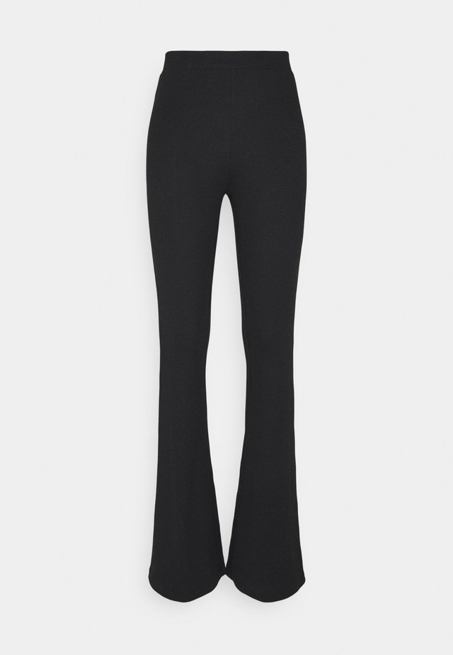 NMPASA FLARED PANTS - Pantalon classique - black
