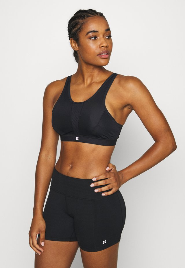 HIGH INTENSITY SPORTS BRA - Sports bra - black