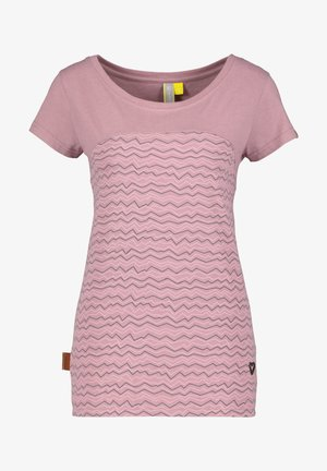Print T-shirt - plum
