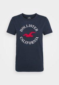 Hollister Co. - TIMELESS - Print T-shirt - navy blue - 4