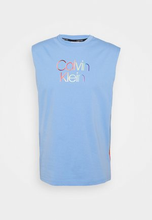 PRIDE MUSCLE SMALL LOGO TEE UNISEX - Top - blue