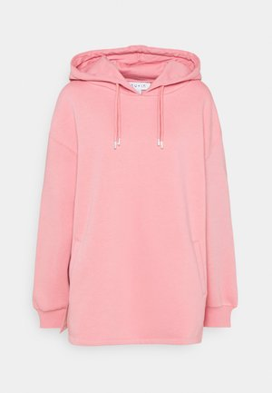 DOUBLE DRAWCORD SIDE SPLIT HOODIE - Mikina - pink
