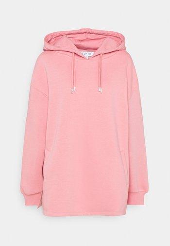 DOUBLE DRAWCORD SIDE SPLIT HOODIE - Sweatshirt - pink