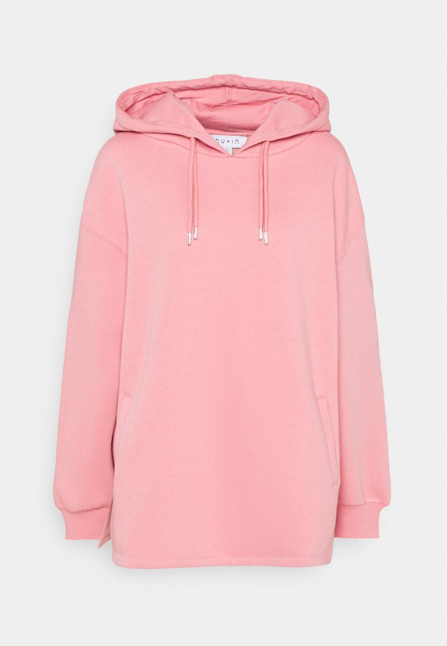 DOUBLE DRAWCORD SIDE SPLIT HOODIE - Collegepaita - pink