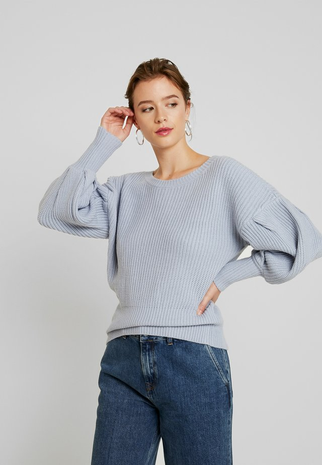 BALLOON SLEEVE JUMPER - Pullover - light blue