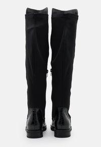 H.I.S - Kozačky nad kolena - black - 3