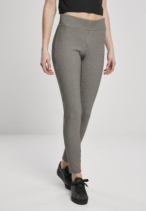 VICHY - Leggings - Trousers - offwhite/blk