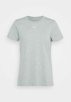 TEE CREW - T-shirt print - dark grey heather/white