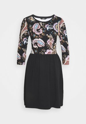ONLAMBER AMY DRESS  - Vestito di maglina - black