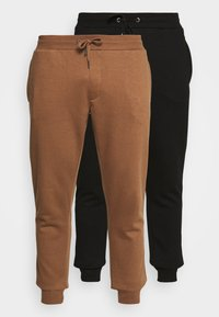 Burton Menswear London - 2 PACK - Tracksuit bottoms - black