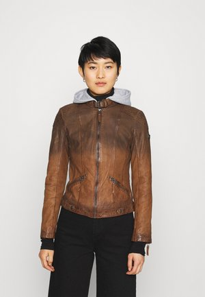 TIFFY LAMOV - Leather jacket - cognac