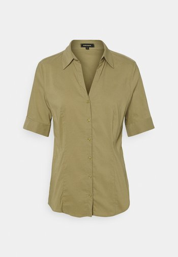 Button-down blouse - muddy green