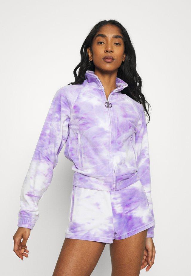 TANYA - Felpa aperta - purple sea