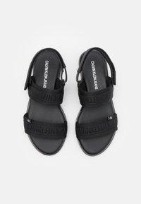 Calvin Klein Jeans - FLAT TWOSTRAPS  - Sandals - black - 5