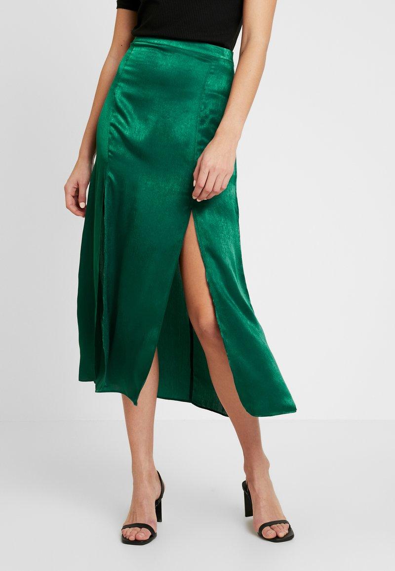 Topshop - PLAIN AUSTIN - Áčková sukně - green