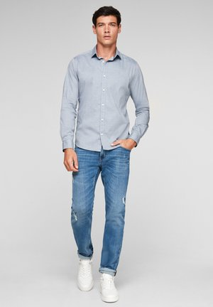 Formal shirt - dark blue dobby