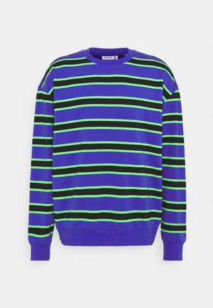 OVIE STRIPED - Sweatshirt - bright blue