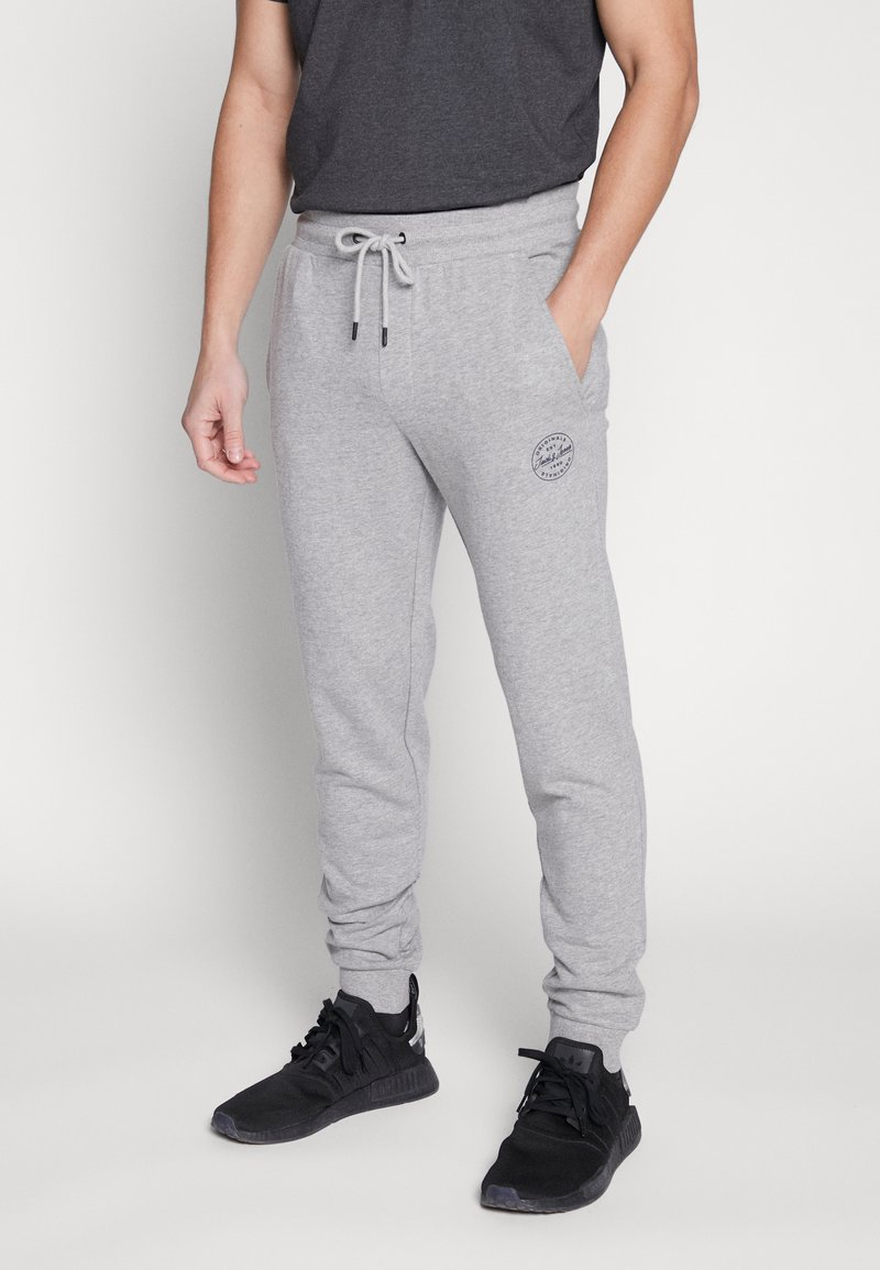 Jack & Jones - JJIGORDON  - Träningsbyxor - light grey melange