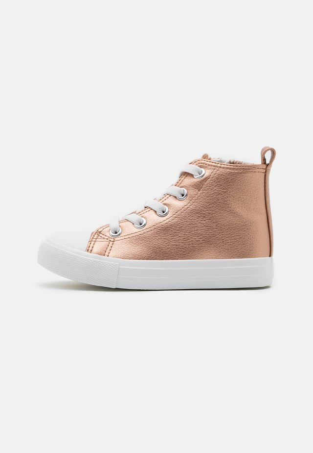 CLASSIC LACE UP UNISEX - High-top trainers - rose gold metallic