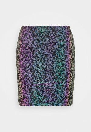 ELEPHANT SKIN SKIRT - A-line skirt - black