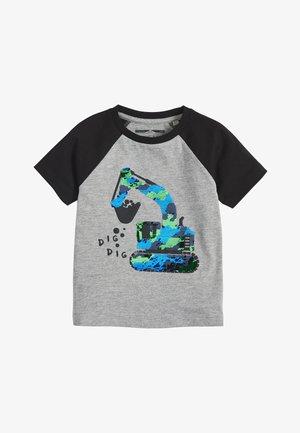FLIPPY SEQUIN DIGGER  - Print T-shirt - grey
