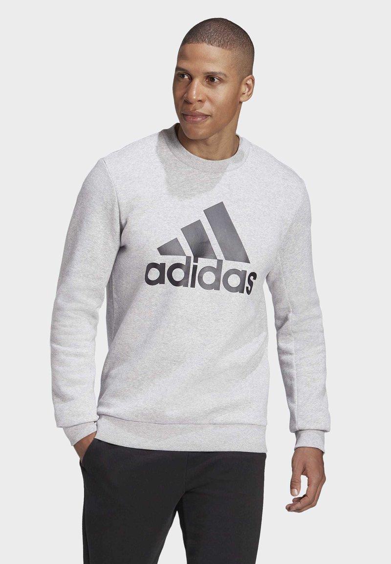 adidas Performance - BADGE OF SPORT FLEECE SWEATSHIRT - Sweatshirt - grey