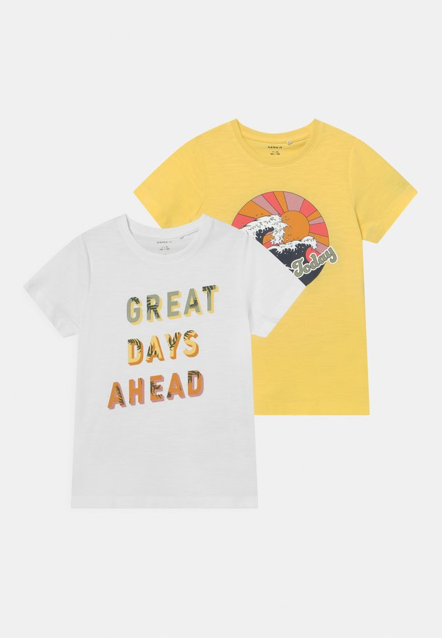 NKFJASMIN 2 PACK - T-shirts print - yellow