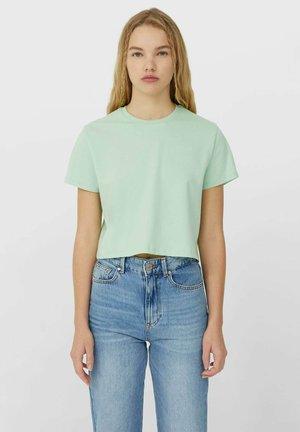 MIT KURZEN ÄRMELN - Basic T-shirt - green