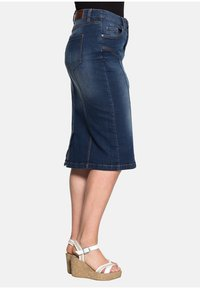 Sheego - Denim skirt - dark blue denim - 2
