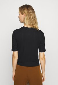 Noisy May - NMHENLEY SLEEVE CROPPED - Basic T-shirt - black - 2