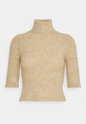 NMSUSIE HIGH NECK CROP - Jumper - beige