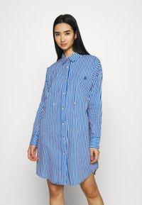 River Island - DAYNA ADJUST DRESS - Shirt dress - blue - 3