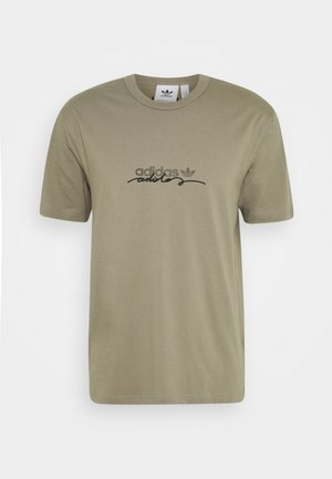 INSPIRED LOOSE SHORT SLEEVE TEE - T-shirt print - clay