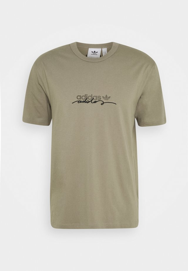 INSPIRED LOOSE SHORT SLEEVE TEE - T-shirt con stampa - clay