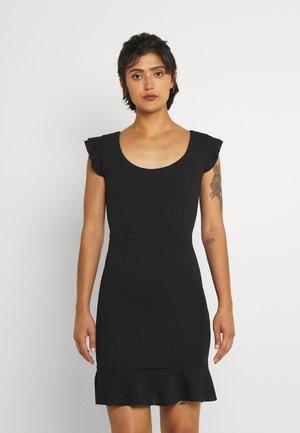 ALULA LACE UP SKATER DRESS - Koktejlové šaty/ šaty na párty - black