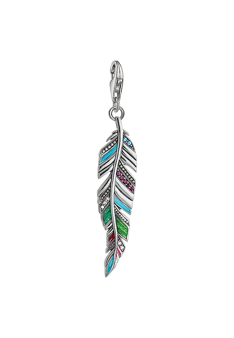 THOMAS SABO ETHNO FEDER - Pendentif - silver-coloured,red,turquoise,green,pink