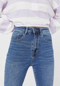 Stradivarius - Jeans slim fit - mottled light blue - 3