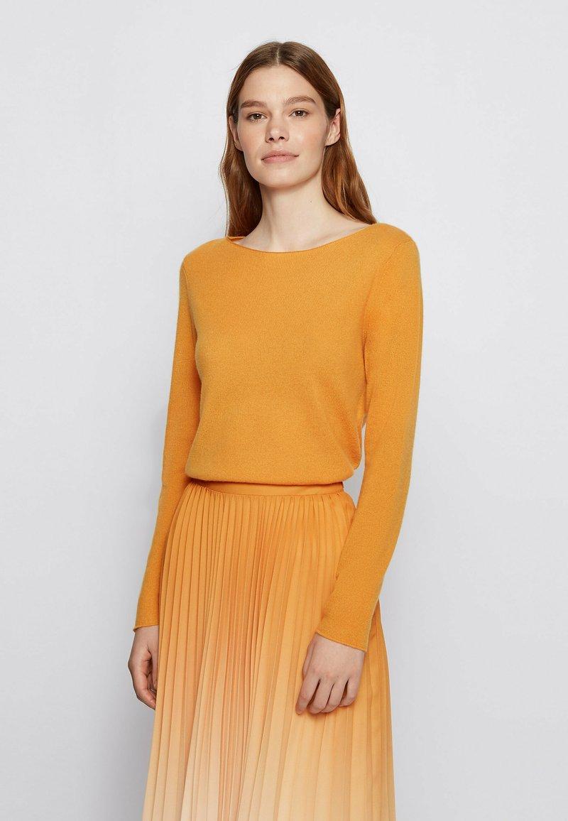 BOSS - FABANDA - Jumper - open yellow