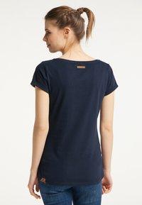Ragwear - Print T-shirt - navy uni - 1