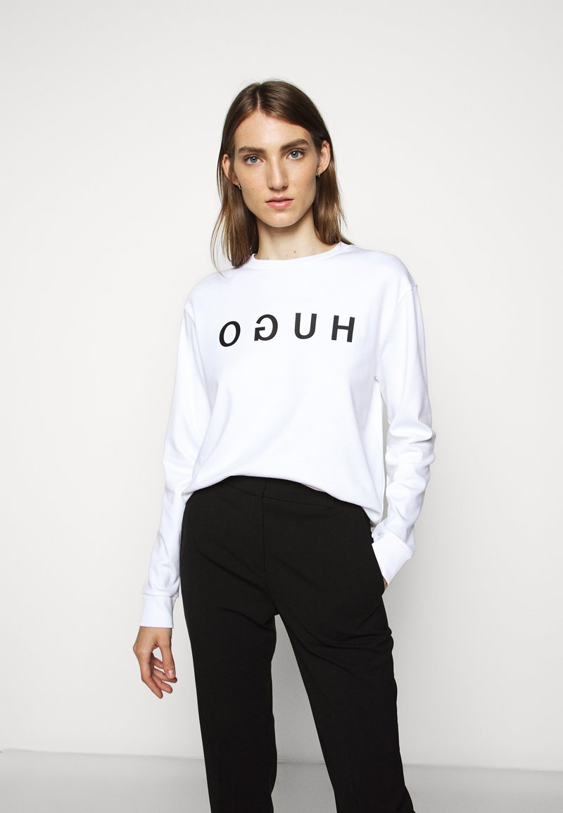 HUGO - Sweatshirt - white