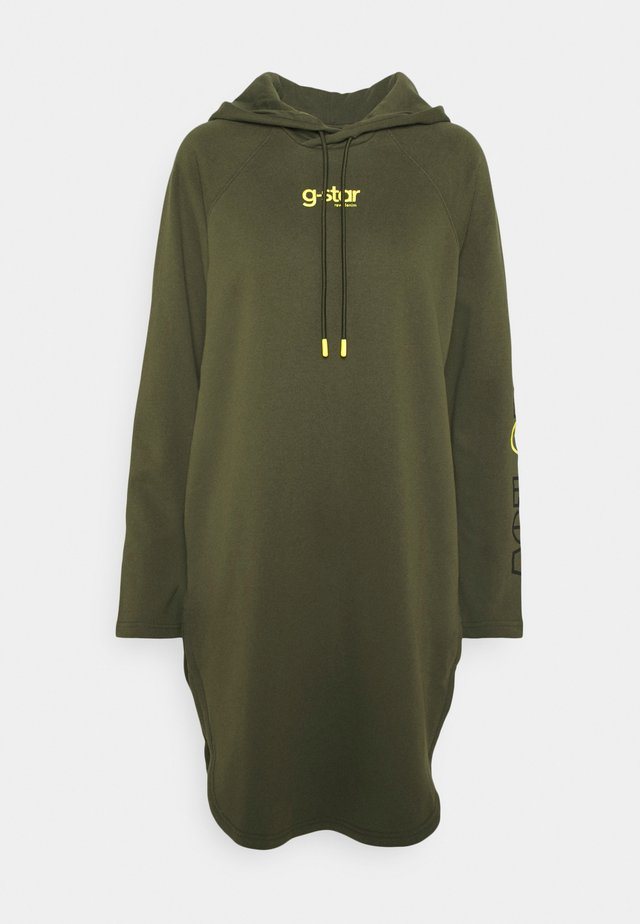 HOODED DRESS - Day dress - combat