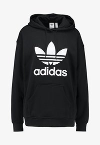 adidas Originals - ADICOLOR TREFOIL ORIGINALS HODDIE - Mikina s kapucí - black/white - 4