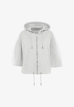 OVERSIZED ZIP HOODY - Zip-up hoodie - light grey melange/bright white
