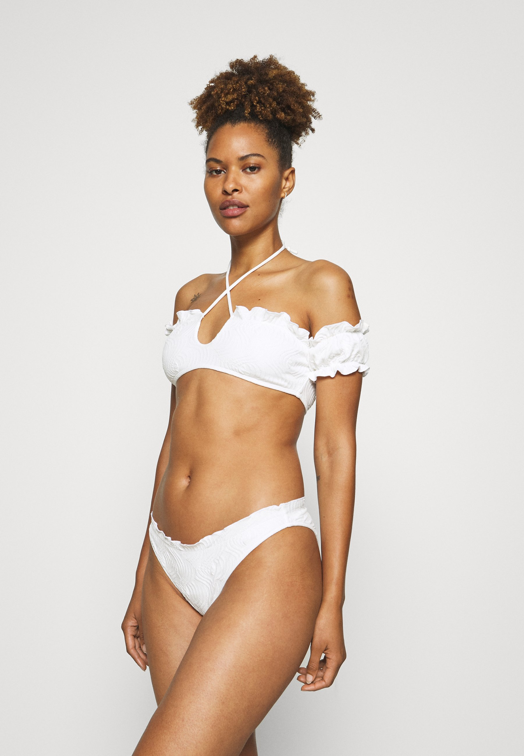 Women EMBOSSED TEXTURE LETTUCE  - Bikini