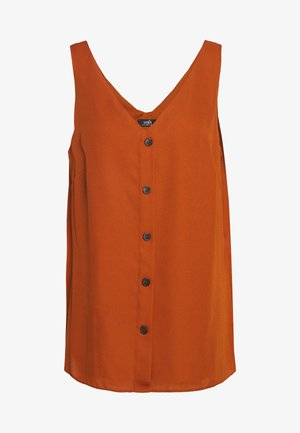 BUTTON THROUGH CAMI - Bluzka - rust