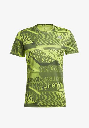 OWN THE RUN GRAPHIC T-SHIRT - Print T-shirt - green